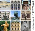 Collage of landmarks of Vienna, Austria - stock photo