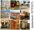 Collage of Lisbon - stock photo