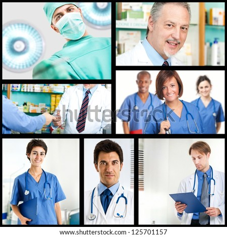Collage of medical images