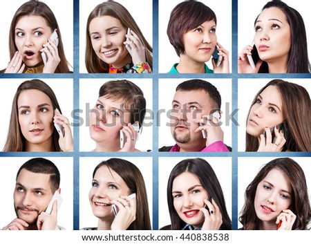 Collage of people calling on the phone