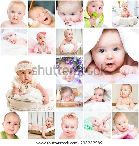 collage of photos of cute little children