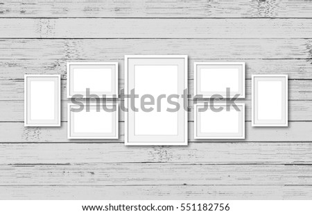 Collage Seven White Frames On Old Stock Photo (Edit Now)- Shutterstock