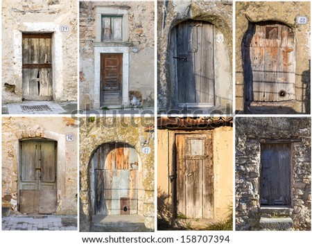 Collage of Sicilian gates