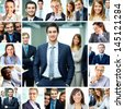Collage of smart businesspeople in formalwear - stock photo