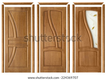 collage of three interior doors with trims on an isolated background & Door Trim Stock Images Royalty-Free Images u0026 Vectors | Shutterstock pezcame.com