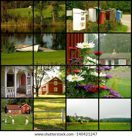 Collage of various images from Sweden