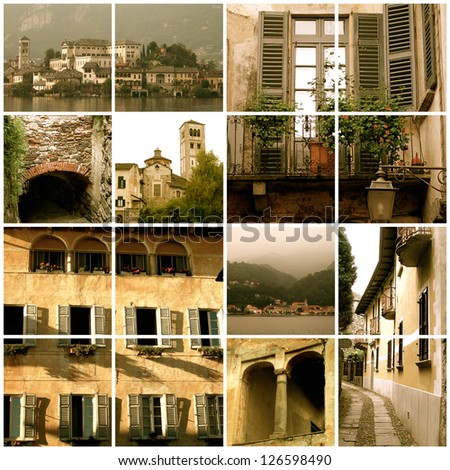 Collage of various Italian scenes