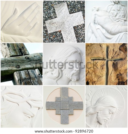 collage religious picture - stock photo