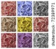 collage with colorful roses backgrounds - stock photo