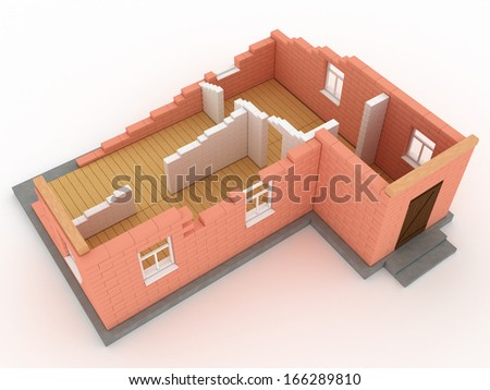Collapsed building 3 - stock photo