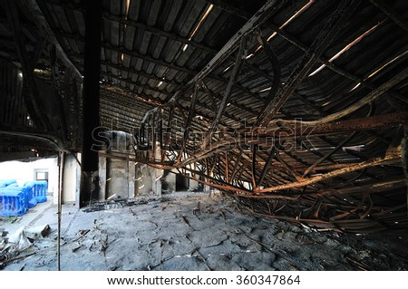 Collapsed Building - part of the ceiling