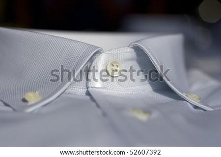 Collar of a shirt - stock photo