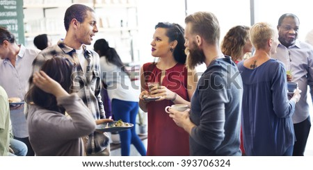 Colleagues Buffet Party Brunch Dinning Concept - stock photo