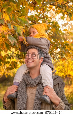 collecting leaves for autumn with little kids