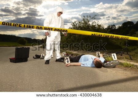 Collecting of evidences - man killed by car