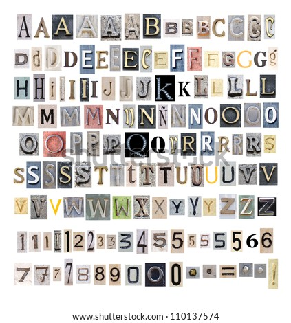 collection alphabet - stock photo