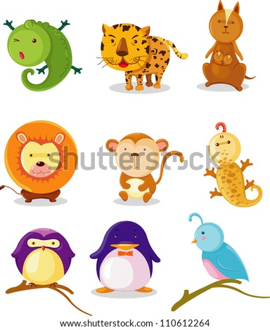 COLLECTION ANIMAL ALPHABET I-Q