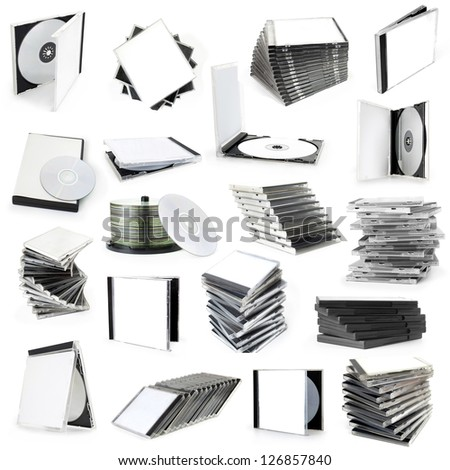 collection cd boxes - stock photo