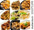 collection chinese food. asian food collection - stock photo
