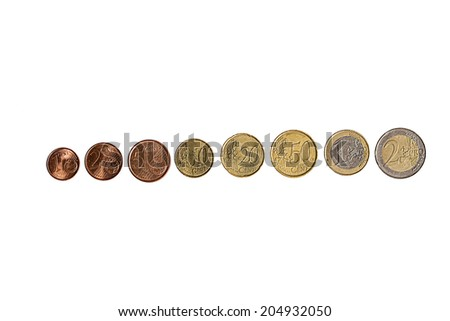 collection euros isolated - stock photo