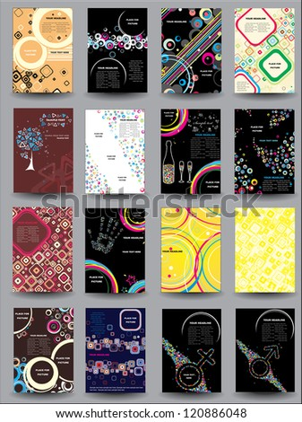 Collection Flyers. Raster version - stock photo