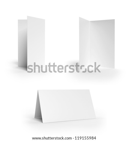 Collection folded cards - stock photo