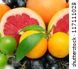 collection fruit background - stock photo