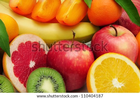 collection fruit background