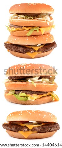 collection hamburgers - stock photo