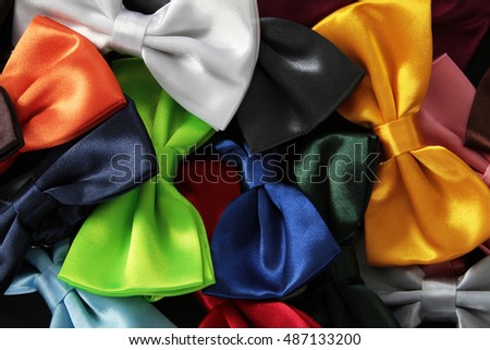 Collection luxury tie bow, background