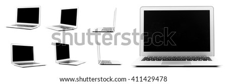 Collection of a design laptop in High definition