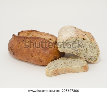 Collection Of Artisan Bread On White Background