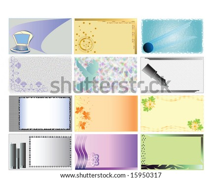 Collection of backgrounds for business cards