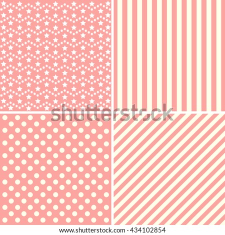 Collection of backgrounds in pink colors. - stock photo