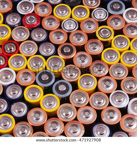 collection of batteries, chargers, rechargeable batteries for home appliances