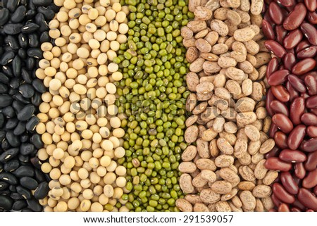 Collection of beans background
