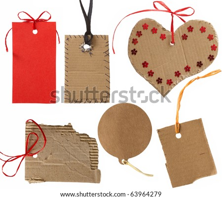 collection of cardboard corrugated tags