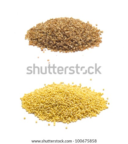 Collection of Cereals isolated on white
