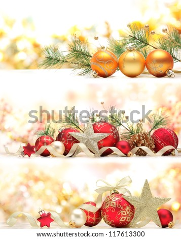 Collection of Christmas banners - stock photo