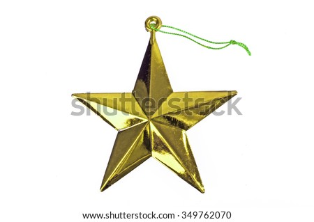 Collection of Christmas object,star isolated on a white background. - stock photo