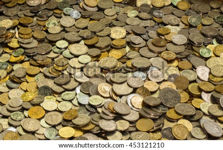 Collection of coins - stock photo