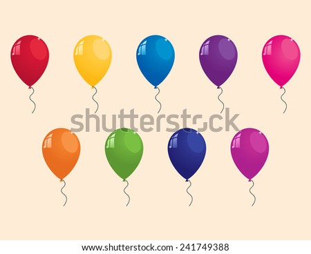 collection of colorful balloons - stock photo