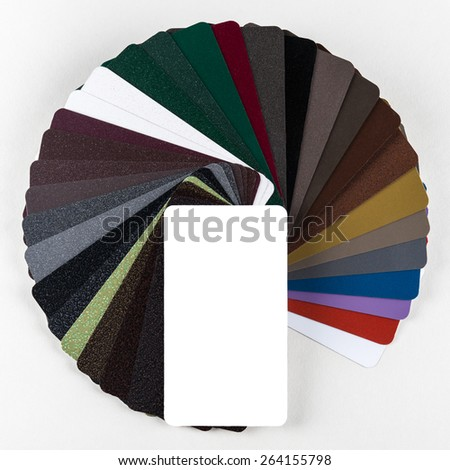 collection of colorful color guide isolated on white background - stock photo