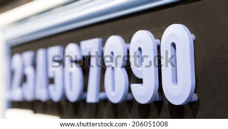 Collection of colorful numbers - stock photo