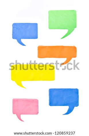 Collection of Colorful Speech message isolated  on white Background