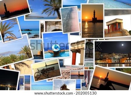Collection of Crete island photos  - stock photo