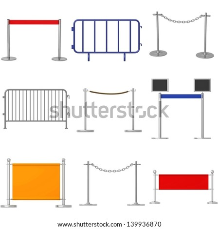 collection of 3d renders - barriers