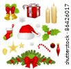 Collection of different Christmas items - stock photo