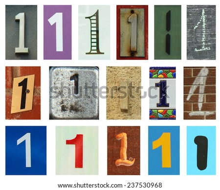 Collection of different colors and texture number one - stock photo