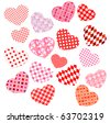 Collection of  different hearts.Raster version. Vector version is in my gallery. - stock photo